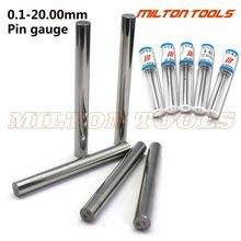 1 pces 0.1-0.49mm 0.5-5.99mm 6-9.99mm 20.0mm pino cilíndrico calibre liso plug calibre furo passo pino calibre calibre ferramenta de medição