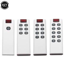 433mhz sem fio código de aprendizagem digital transmissor controle remoto para interruptor remoto 1/3/6/8/10 botão para 2262/ev1527 elétrica