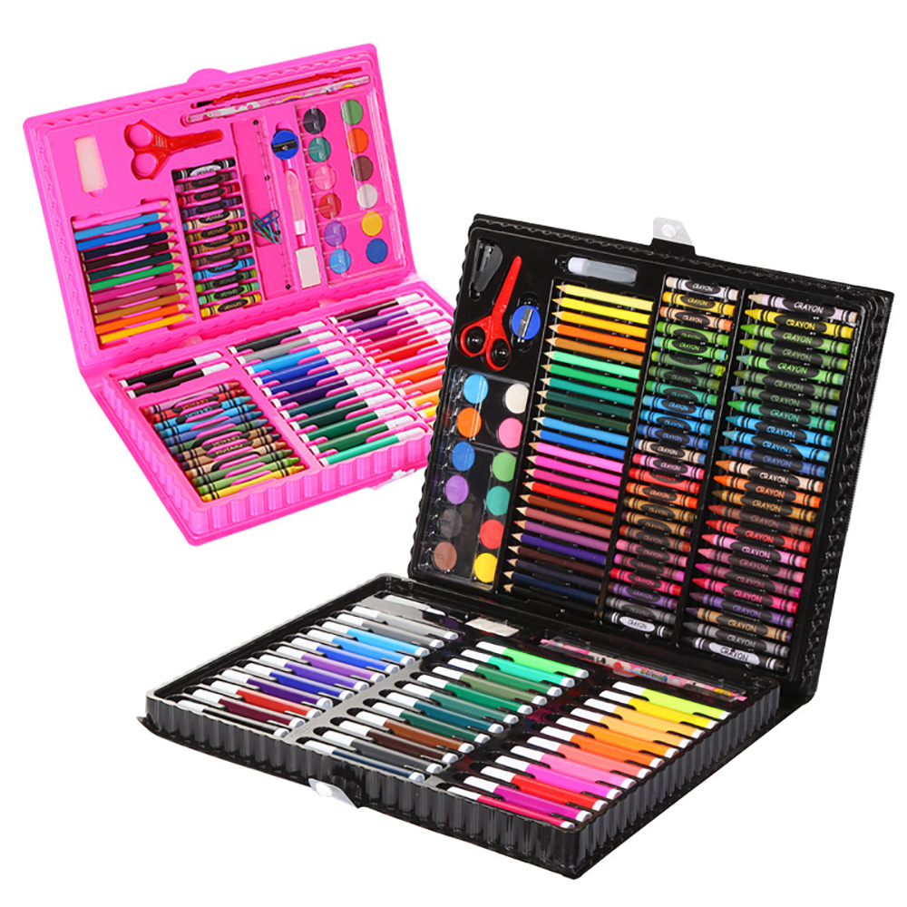 Children's watercolor brush set gift box children's painting tools watercolor pens crayons pencils children learning art supplie