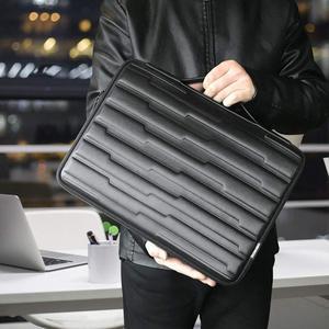 Image 3 - DOMISO 10 13 14 15.6 אינץ הלם עמיד מחשב נייד תיק עם ידית מגן מקרה תואם עבור Macbook Dell HP Lenovo שחור
