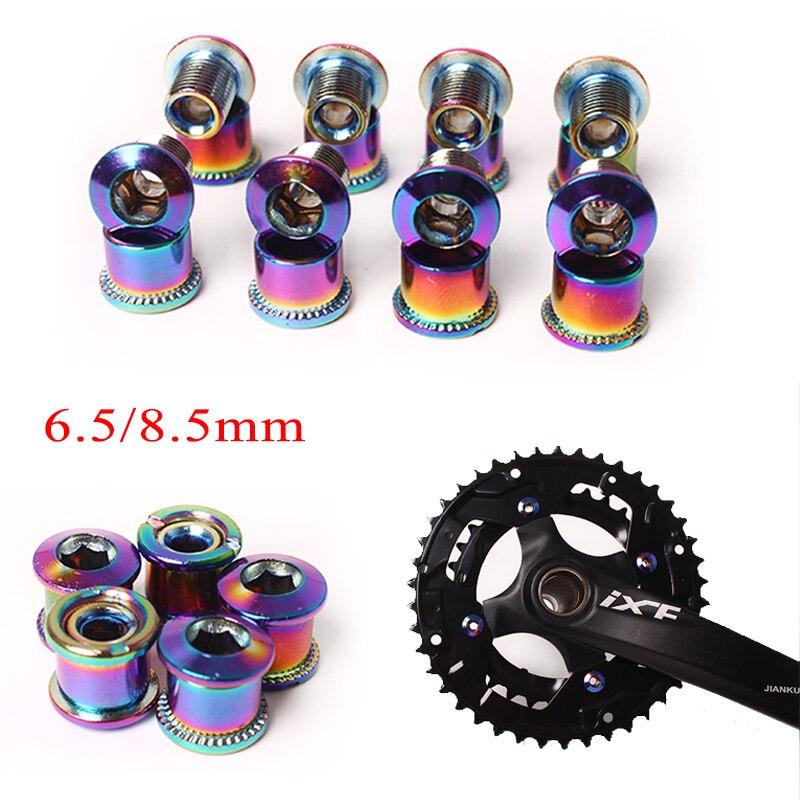 Aluminum 6.5mm Single//Triple Speed Chainring Bolt MTB Bike Crankset Screw 4//5PCs
