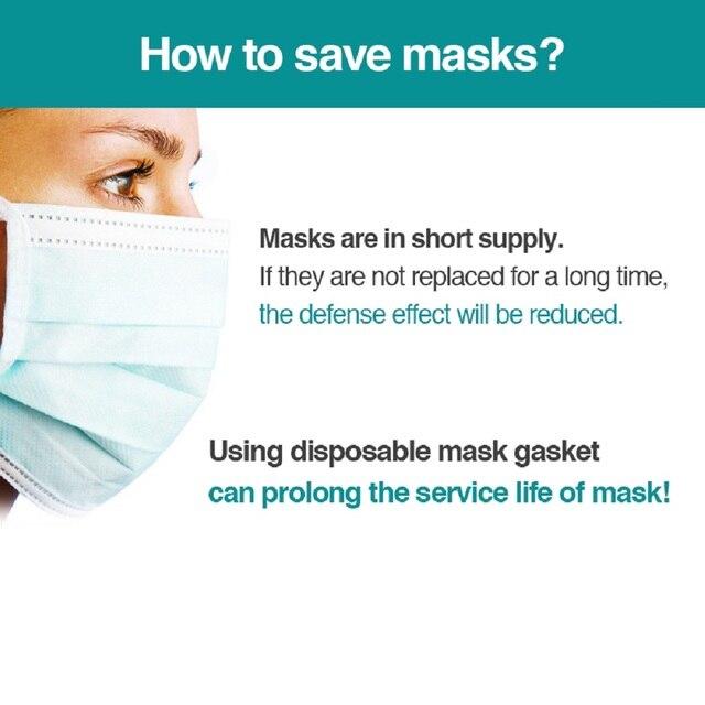 100~500pcs Disposable Mask Filter Pad Facial haze Masks Universal Protective Dustproof Replaceable Pad Suitable For All Masks 4