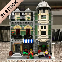 In Stock 10185 Creator Green Grocer 15008 2462Pcs Street View Model Building Kits Blocks Bricks Education Toys