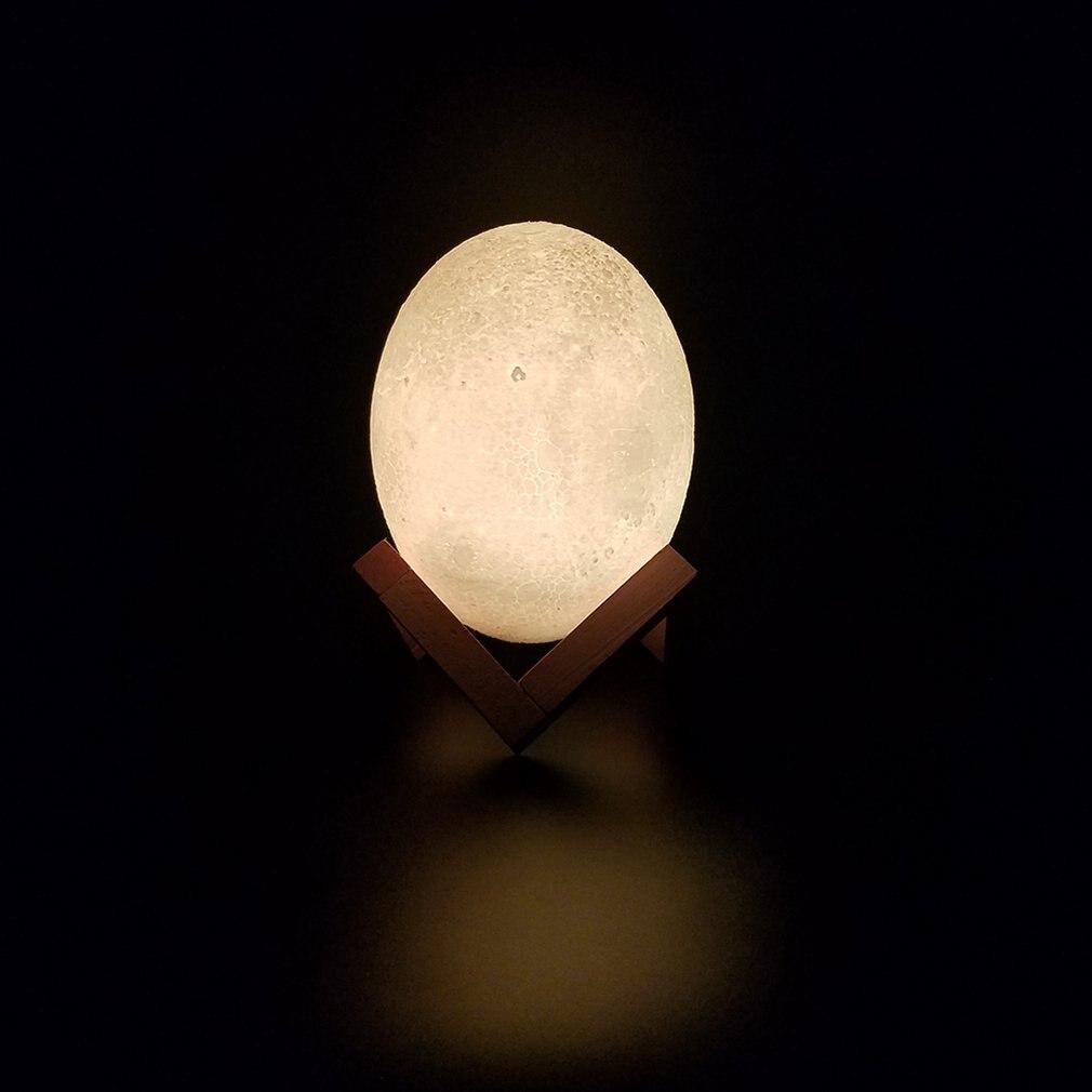 Food Grade Degradable Pla3d Printing Dinosaur Egg Light Moon Light Strange Night Light Table Lamp Led Light Birthday Gift
