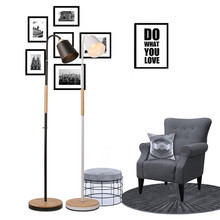 Modern Creative Concise Art Style Office Floor Lamp Bedroom Study Living Room Light Free Shipping post modern 6 glass ball led floor lamp for living room bedroom bedside foyer floor light art loft decoration free shipping