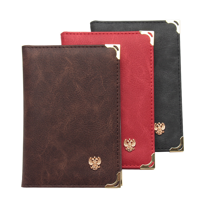 Fashion Russian PU Leather Retro Auto Driver License Bag Cover For Car Driving Documents Card Credit Holder Wallet Case