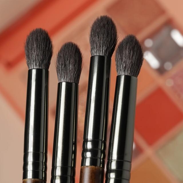 OVW Cosmetic 2/6 pcs Goat Hair Makeup Eye Shadow Brush Set Tool Ultra Soft Make Up Tapered Blender Diffuse Kit Cut Crease Brush 6
