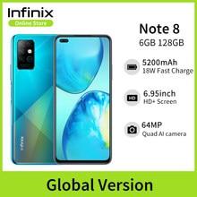 Infinix nota 8 6gb 128gb versão global telefone móvel 6.95 hd hd hd + display 5200mah bateria 18w carga rápida núcleo helicoidal g80 octa