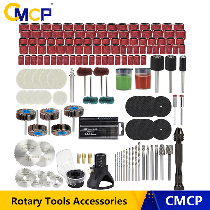 CMCP Rotary Tool Accessories For Sanding Polishing Grinding Tool Abrasive Tools Wood Metal Engraving For Dremel Accessories