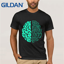 Brain Neurons Awareness Shirt : Abstract Nerdy Human Anatomy Print T-Shirt Summer Style Hot Simple Style Tops Cool T Shirt(China)