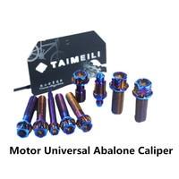 1 set Titanium Bolt Titanium alloy screws Motorcycle electric motorcycle BremboAbalone caliper modified screws Decorative screws