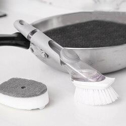 Czyszczenie szczotka do szorowania do mycia naczyń miska z wkładem mydło w płynie dozownik naczynie gąbka do czyszczenia naczyń typ hydrauliczny urządzenia do oczyszczania