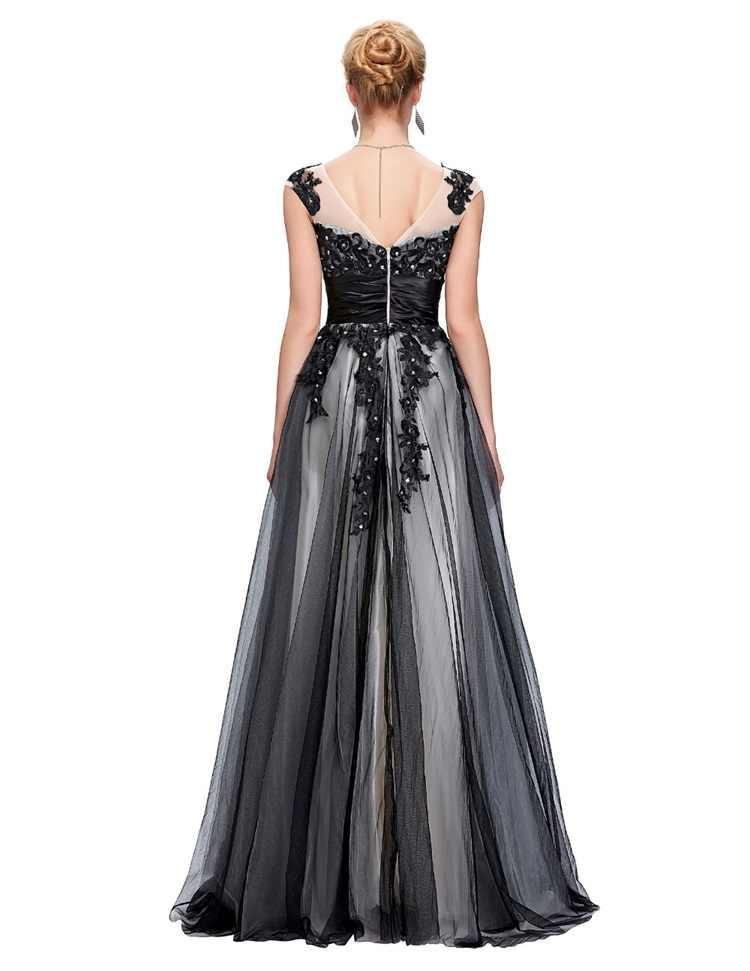 Sukienka bez rękawów De Soiree 2020-line przezroczysta szyja aplikacje olśniewająca formalna suknia wieczorowa pełna długość formalne suknie na przyjęcia weselne