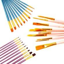 Кисти для рисования акварелью и гуашью 10 цветов