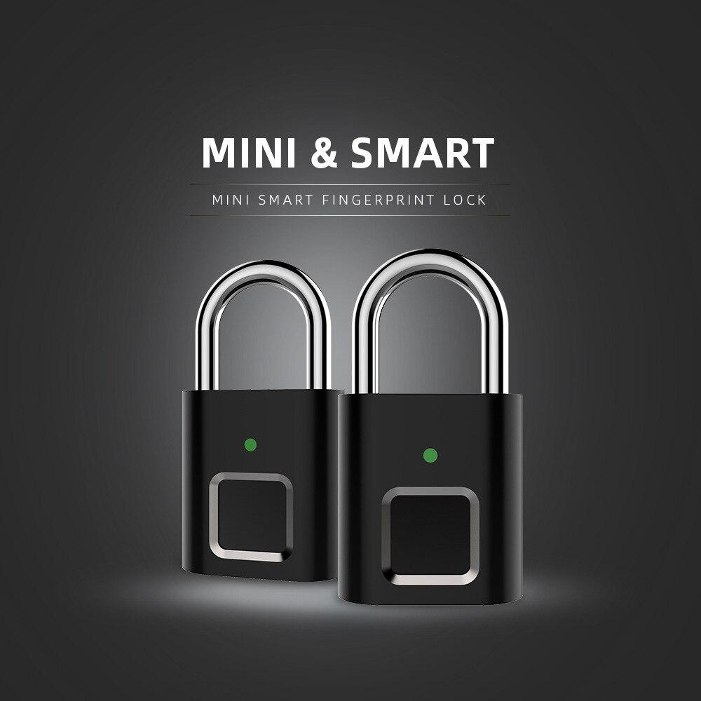 10pcs/lot Anytek Lock L34 Fingerprint Lock Security Keyless USB Rechargeable Mini Door Luggage Aluminum Alloy Fingerprint Lock