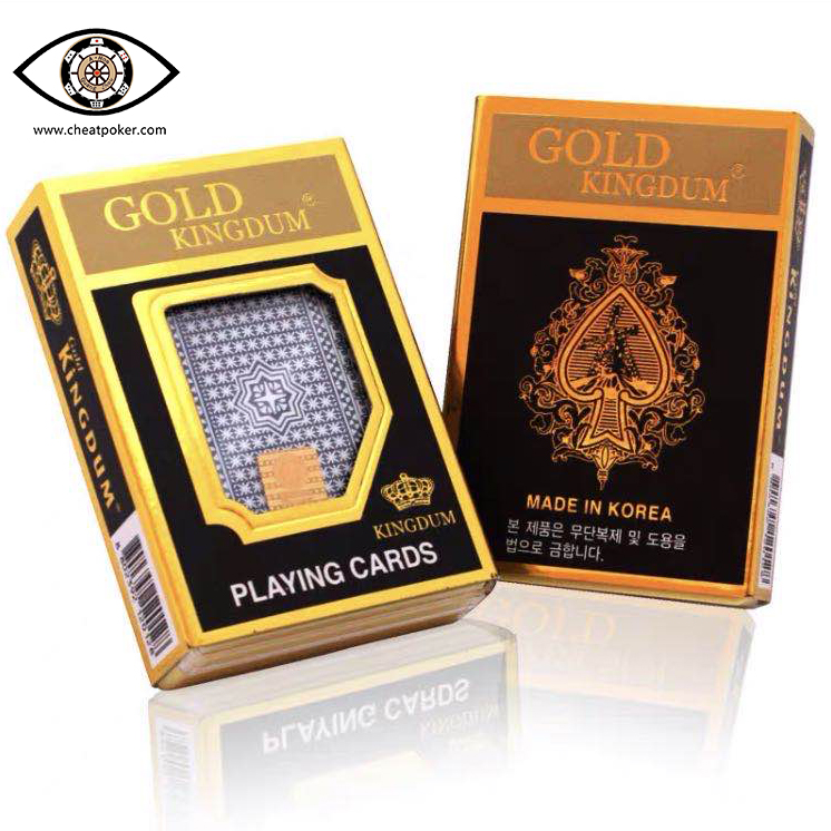 Marked Cards For Contact Lenses,  Plastic Infrared Marked Gold Kingdum Perspective Anti Cheat Poker