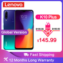 Global Version Lenovo K10 Plus Snapdragon 632 Android 9.0 Mobile Phone 6.217' 4050mAh 4GB RAM 64G ROM 4G LTE Smartphone(China)