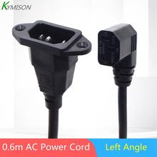 IEC320 C14 to C13 Extension cord,C14 with screw holes and C13 Angled 30cm / 60cm lenght,H05VV-F 3G 0.75MM