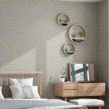 الحديثة الصلبة رمادي ورق حائط لغرف النوم عادي بسيط محكم الأصفر غير المنسوجة ورق حائط