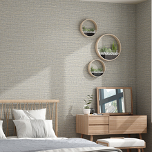 Modern Solid Grey Wallpaper For Bedroom Plain Simple Textured Yellow Non Woven Wall Paper