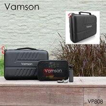 Vamson 大防水キャリングケース PU DJI OSMO の Gopro ヒーローのため 8 黒 7 6 5 AKASO /李ハードシェル VP808