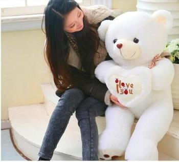 39'' Big Love Hear Heart Teddy Bear Plush Giant Soft Toy Xmas Cushion Doll Gift Plush Toys Toys For Children