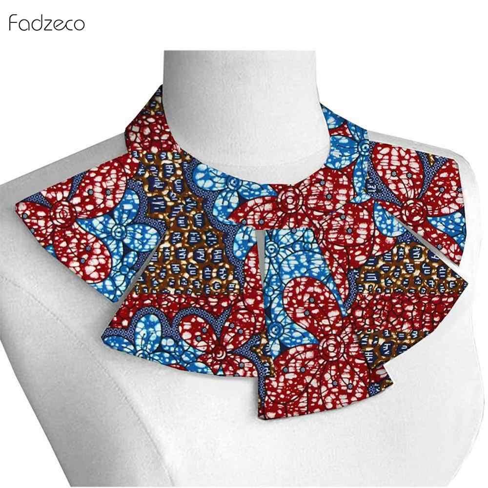 Fadzeco ผู้หญิงแอฟริกันผ้าพันคอ Dashiki ใหม่อังการา Wax พิมพ์ดอกไม้เผ่า Tribal สร้อยคอ Bib ผ้าฝ้ายหลายรูปแบบ