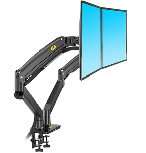 Image 2 - NB F195A Aluminum Alloy 22 32 inch Dual LCD LED Monitor Mount Gas Spring Arm Full Motion Monitor Holder Support with 2 USB Ports