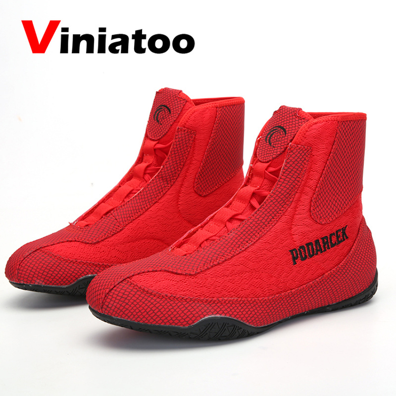 New Quality Wrestling Shoes Men Light Weight Boxing Shoes Outdoor Comfortable Wrestling Sneakers Luxury Flighting Footwears