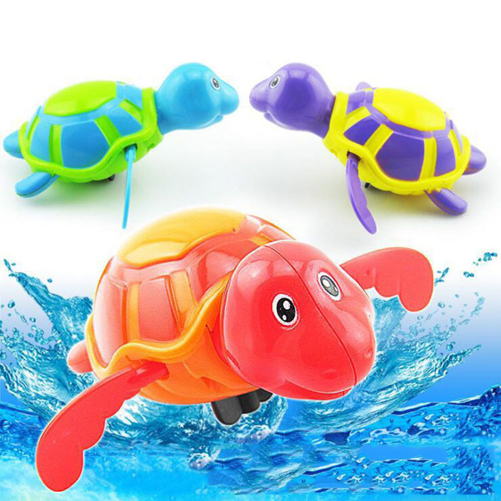 Newborn Lovely Animals Bathing Bath Toy Wind-up Floating Turtle Clockwork On A Chain Bathing Toy Toys For Kids