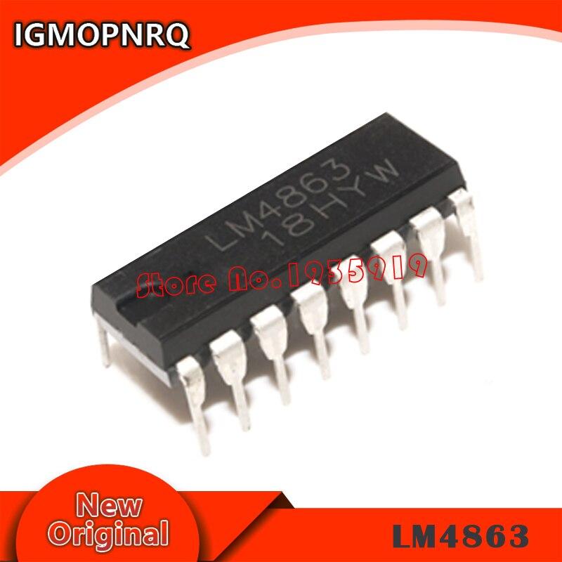 5PCS LM4863D LM4863 DIP-16 Dual 2.2W Audio Amplifier