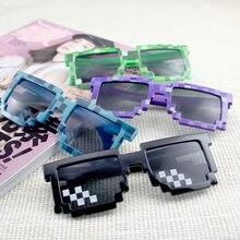 Óculos de sol crianças cos jogo divertido mosaico moda retro treliça festa cor retro óculos de sol brinquedo presente