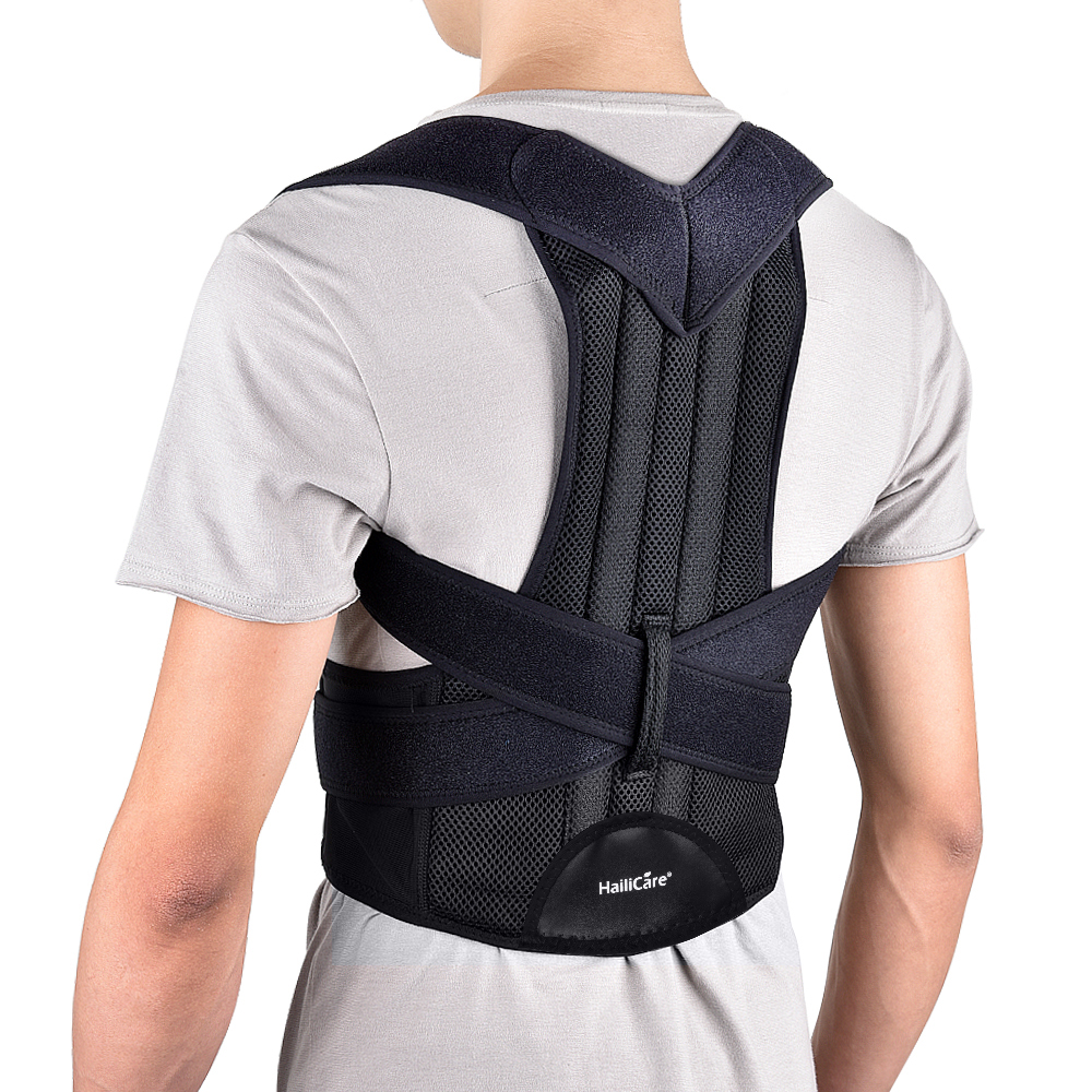 Back Posture Strengthen Corrector Belt Shoulder Lumbar Brace Spine Support Belt Adjustable Adult Corset Posture Body Health Care