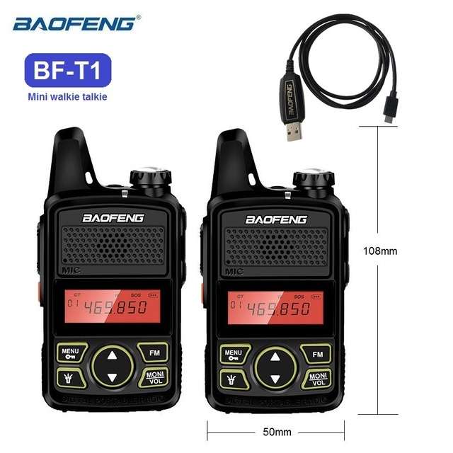 1/2/3/4/5 pcs BAOFENG BF-T1 Mini Walkie Talkie Kids Toy UHF Radio Transceiver bf t1 CB Ham Radio Amateur Transmitter BAOFENG T1