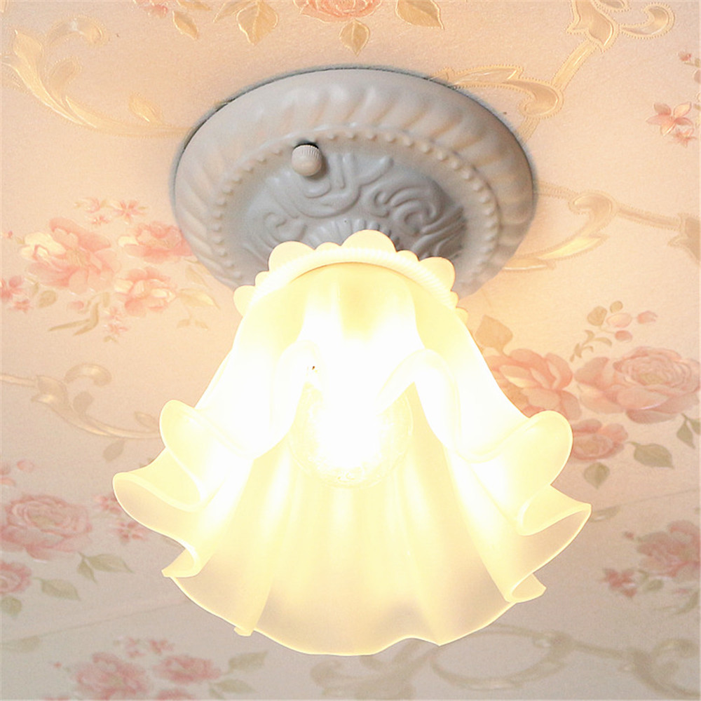 1 Light Surface Mounted Ceiling Lamp Aisle Hallway entrance balcony Cloakroom Lamp Led Ceiling Light with Glass Lampshade