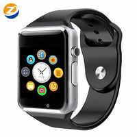 Novo a1 relógio inteligente à prova dpedometer água bluetooth relógio de pulso esporte pedômetro com sim tf cartão câmera smartwatch para android pk gt08 dz09