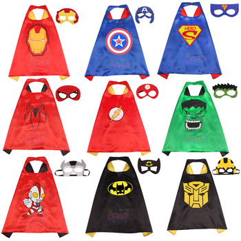 купить 2020 New Fashion Cosplay Costume Cloak and Mask Spiderman Costume Child Superman Batman Performance Costume For Boy And Girl в интернет-магазине