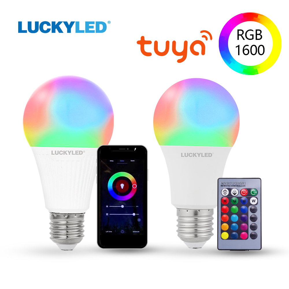 LUCKYLED Led Smart Bulb E27 9W 10W 15W Led Bulb 220v 110v Wifi Lamp Bulb RGB Dimmable Led Light Bulbs With IR Remote Control