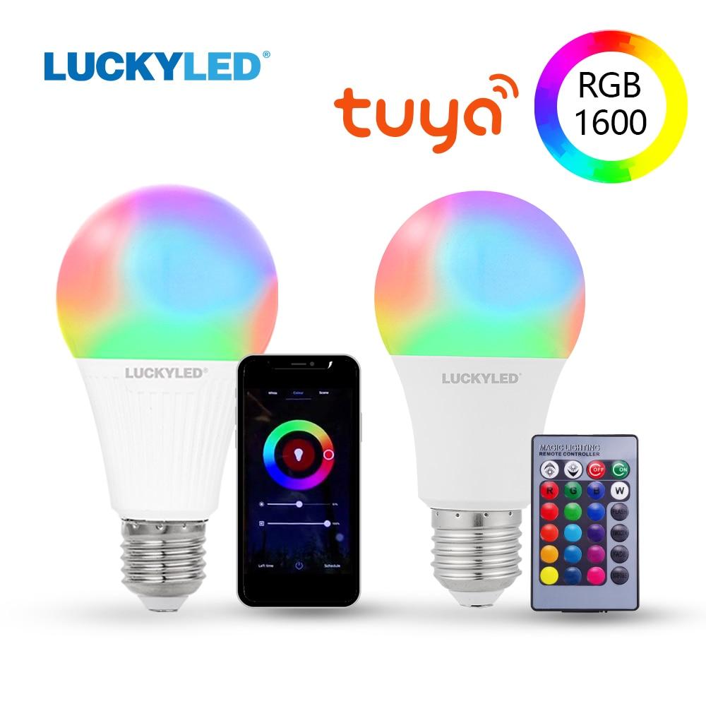 LUCKYLED Led Smart Bulb E27 9W 10W 15W Led Bulb 220v 110v Wifi Lamp Bulb RGB Dimmable Led Light Bulbs With IR Remote Control