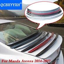 QCBXYYXH 1pc ABS Tail Rear Trunk Spoiler Wing Decoration Cove Car Accessories For Mazda 6 M6 ( Atenza ) 2014 2017