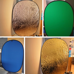 Image 5 - 150*200cm 4in1 Oval Collapsible Portable Reflector Disc Blue Green/Black White Screen Background Chromakey Panel for Photography