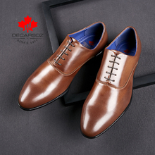 Men Shoes 2020 Business Office Lace-Up Dress Shoes Men Brand Fashion Leather Wedding Footwear Men High Quality Formal Shoes