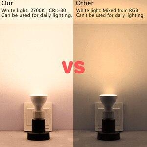 Image 3 - 8W IR télécommande GU10 RGB LED ampoule 85 265V atmosphère éclairage 16 couleurs modifiables lumières décoratives blanc chaud