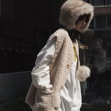 Lamb hair waistcoat with warm and thick fur and soft waistcoat on both sides leather jacket woman coats faux fur jacket(China)