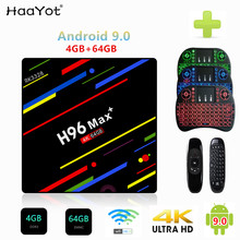 HAAYOT H96 MAX + 4GB RAM RK3328 64GB ROM Smart TV Box Android 9.0 Quad Core 2.4G /5G Dupla Wifi HDMI 4K Media Player Set Top Box(China)