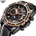 Relojes LIGE para hombre de marca superior reloj de cuarzo deportivo de lujo reloj creativo a prueba de agua reloj Casual azul para hombre