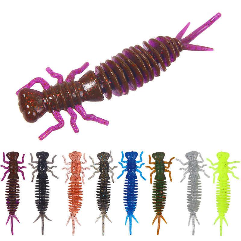 Личинка приманка 55 мм 75 100 Мягкая против насекомых для рыбалки червь силиконовая