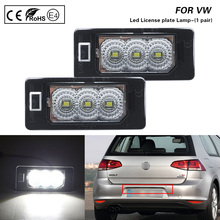 цена на 2Pcs auto light LED license plate light tail light fit for VW Golf VI Variant Golf Plus Jetta Passat Variant Sharan Touran