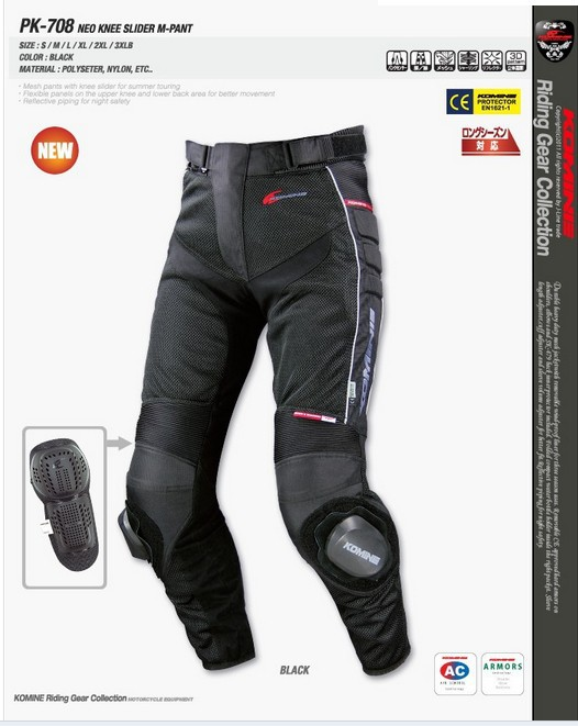 New For KOMINE PK-708 Motocross Summer Mesh Automobile Pants Motorcycle Racing Ride Pants Dirt Bike MTB Riding Pants