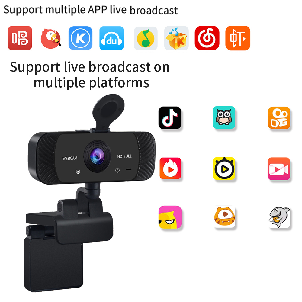 1080P,2K,,4K,HD Webcam with Microphone, Streaming Computer Web Camera for Laptop/Desktop/Mac/TV, USB PC Cam for Video Calling
